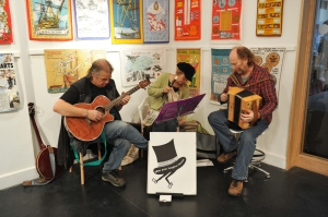 musicians at the opening