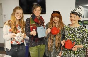 student help serving tea