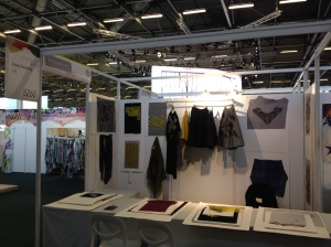 Jayne's work as displayed at PremierVision with Texprint.