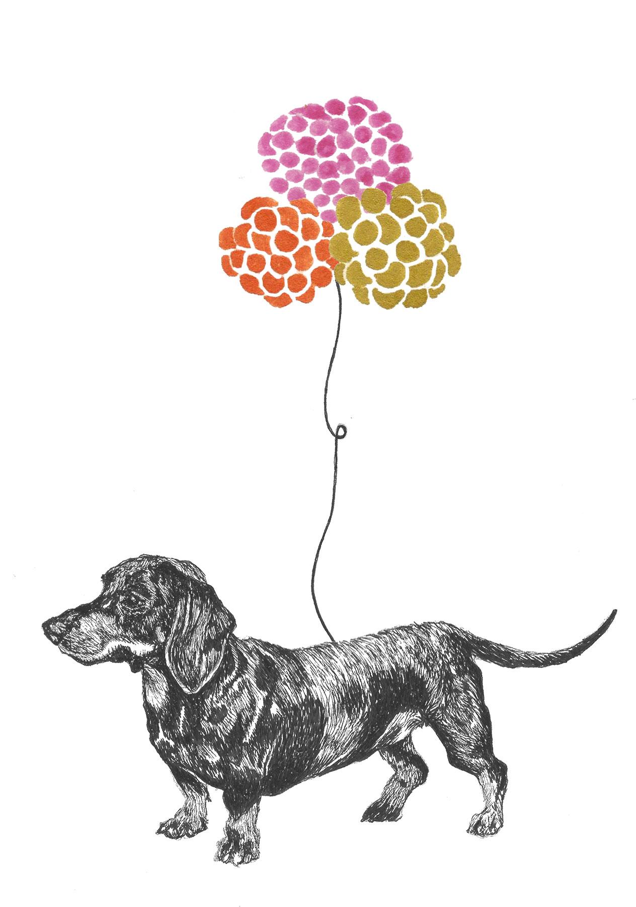 sausage dog balloon
