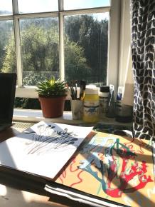Natalie's studio full sun